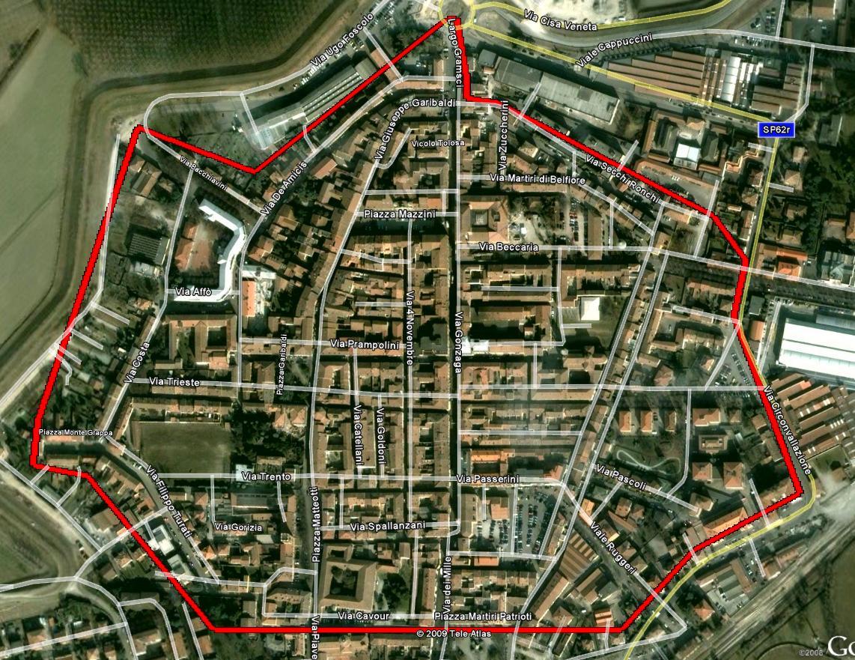 Zona interessata dal PAP a Guastalla