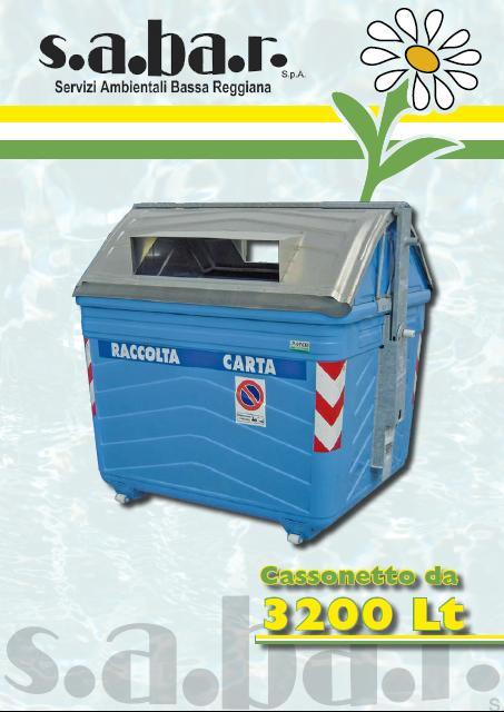 Cassonetto Carta e Cartone 3200 Lt