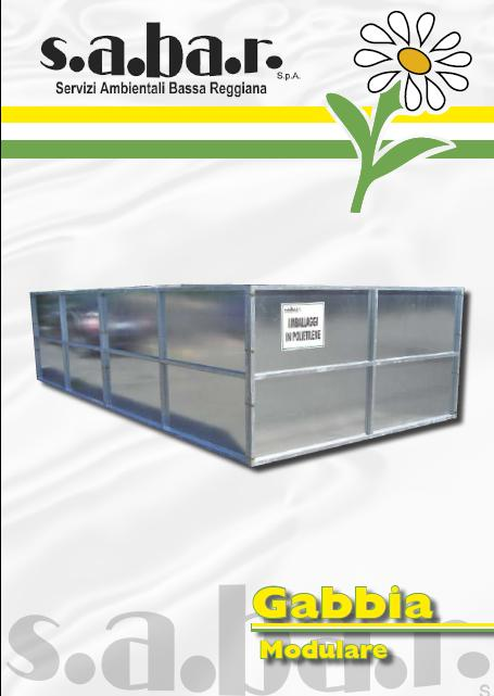 Gabbia modulare Film in polietilene, Cartone 30 mc
