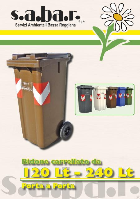 Bidone Carrellato Organico 120 / 240 Lt