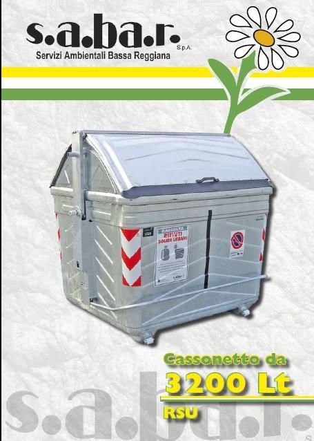 Cassonetto RSU, secco indifferenziato 3200 Lt