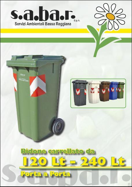 Bidone Carrellato Vetro e Lattine 120 / 240 Lt