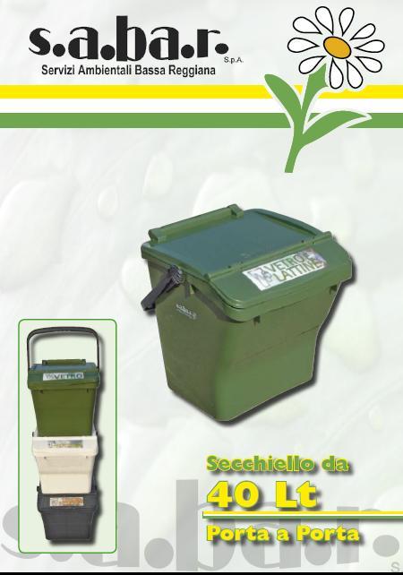 Secchiello Vetro e Lattine 40 Lt