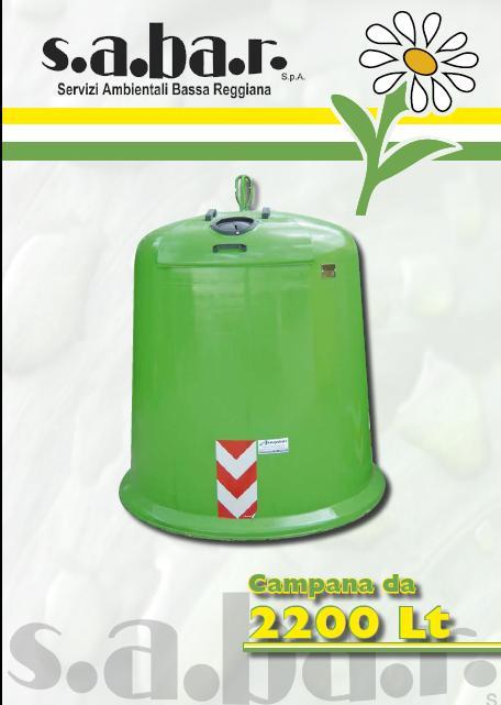 Campana vetro e lattina 2200 Lt
