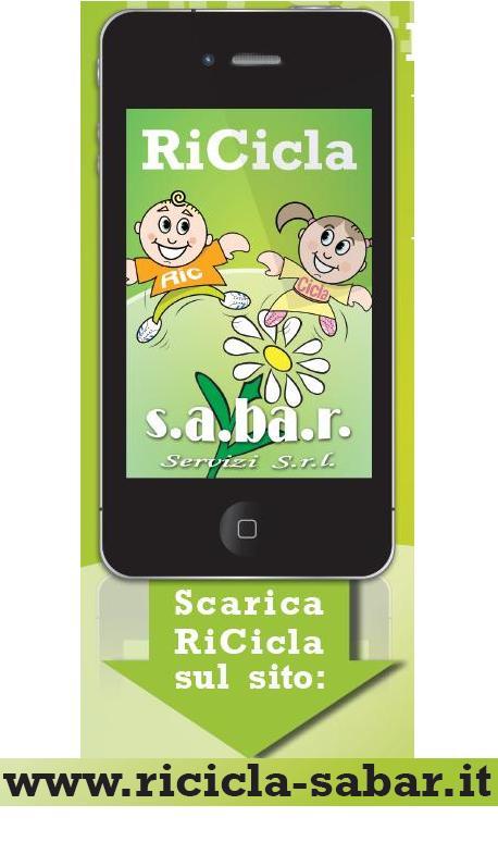 App Ricicla per smartphone sul riciclaggio dei rifiuti in SABAR